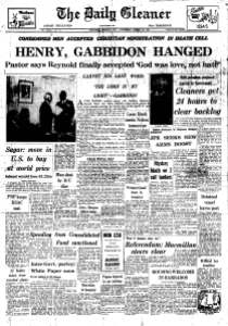 JPEG Henry and Gabbidon Hanged DAILY GLEANER 29 March 1061 - Copy