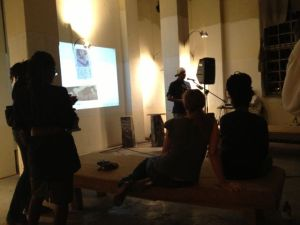 DJ Spooky performance and talk at Roktowa in Kingston, Jamaica, December 2012.