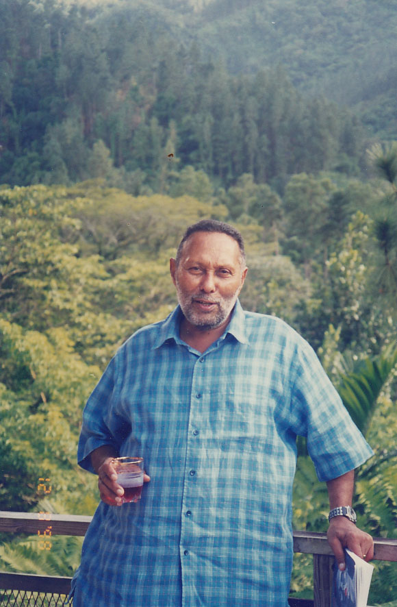 Stuart Hall at Aggrey Brown's home
