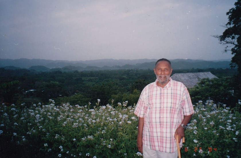 Stuart Hall at Good Hope Estate, Trelawny, Jamaica, 2004