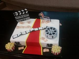 Celebratory cake designed for Jamaica Film Festival