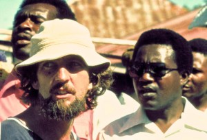 Jamaican director Perry Henzell, who famously made The Harder They Come, on left