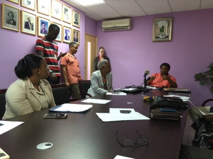Dean Wariboko holds press briefing to discuss plans for version 2 of Marcus Garvey bust, June 30, 2017