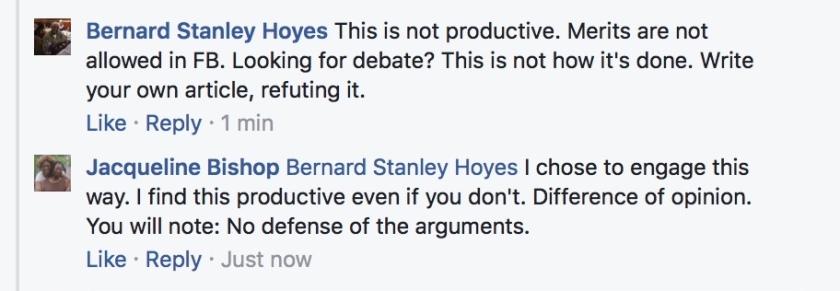 Hoyes not productive