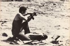 Bishop at firing range