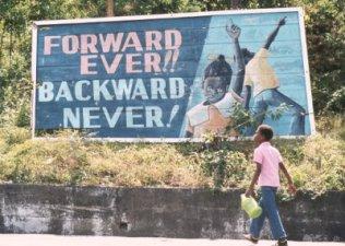 One of the many revolutionary billboards