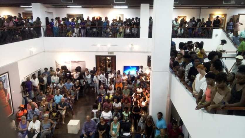 Huge crowd at opening of Beyond Fashion. Photo: Roxanne Silent